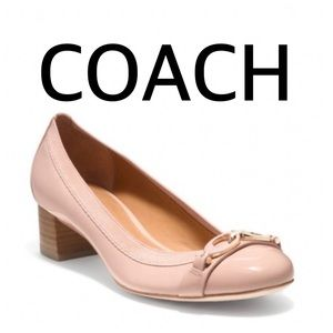 Coach Pink Tandy Round Toe Block Heel Size 8.5